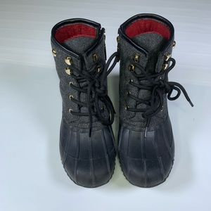 Tommy Hilfiger 6 Grey Black Hiking Shoes Boots